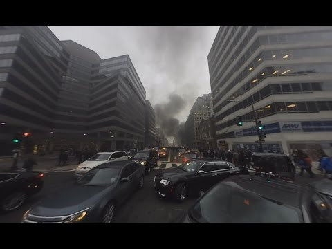 Protests erupt during Trump inauguration: 360-degree view
