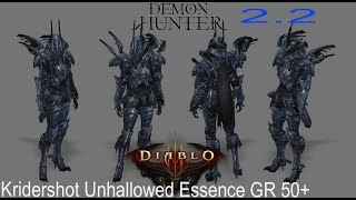 #Diablo 3 Kridershot Unhallowed Essence GR 50+ [Demon Hunter] [Cazador de demonios] [Build] 2.2