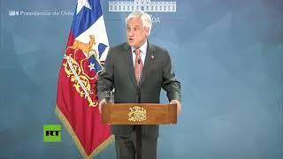 Piñera suspende el aumento del pasaje del metro en Santiago de Chile