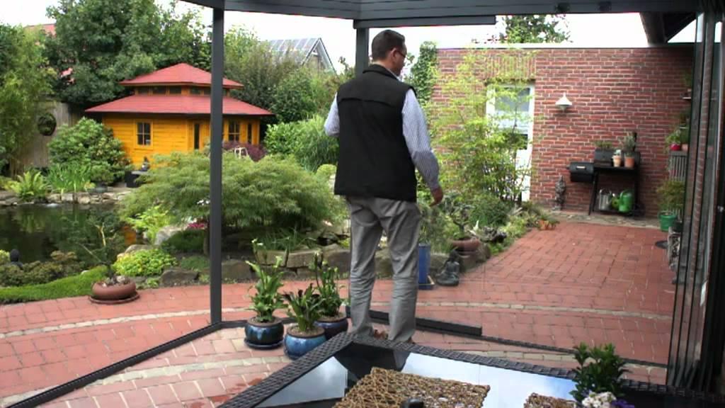 verglaste Terrassen wintergarten essmöbel eisenmöbel
