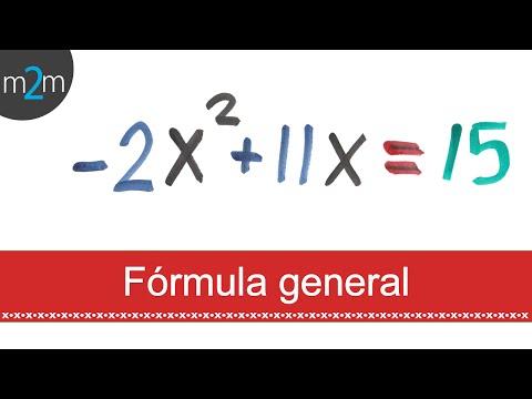 * Ejercicios con fórmula general. Exercises of quadratic formula