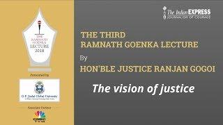 #Live Third Ramnath Goenka Lecture by Hon'ble Justice Mr. Ranjan Gogoi