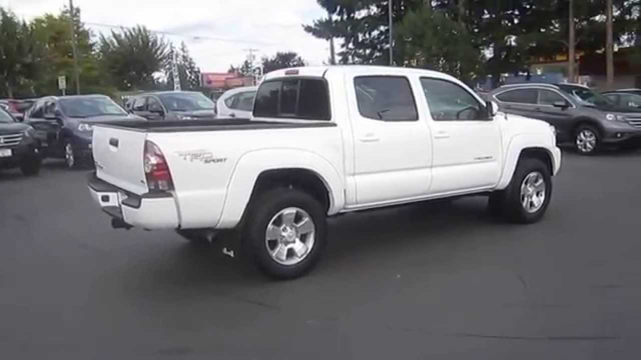 2013 toyota tacoma super white stock 140468e walk for Tacoma honda service