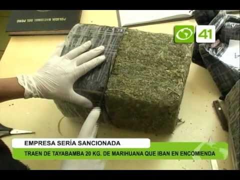 Traen de Tayabamba 20 kg de marihuana que iba en encomienda