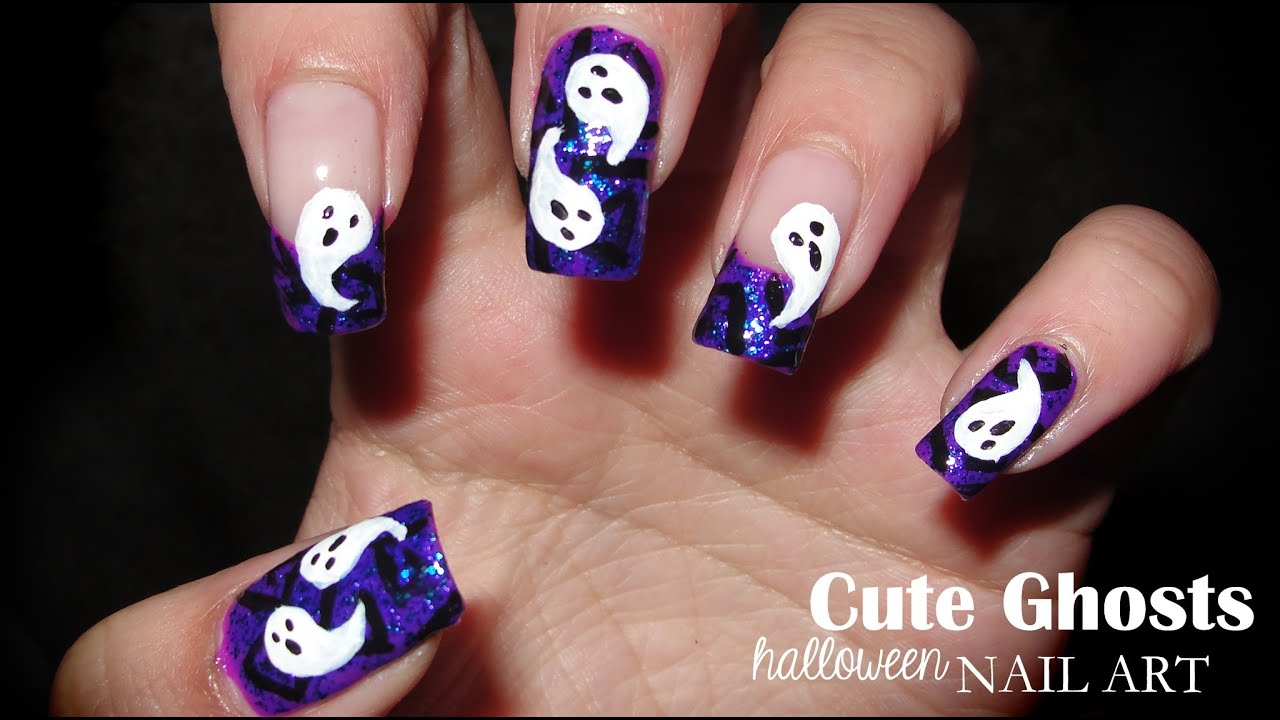 Cute Ghosts - Halloween Nail Art Party 2012 - YouTube