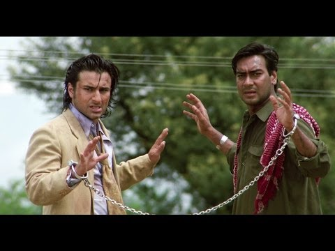 Saif Ali Khan & Ajay Devgn's Great Escape | Kachche Dhaage Movie Scene