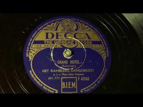 The Ramblers - Grand Hotel - 78 rpm - Decca F42168