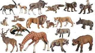Schleich Papo 20 Animals African Savanna Safari ZOO Toys Figurines