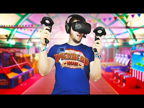 Virtual Reality Arcade! - Pierhead Arcade Gameplay - HTC Vive VR