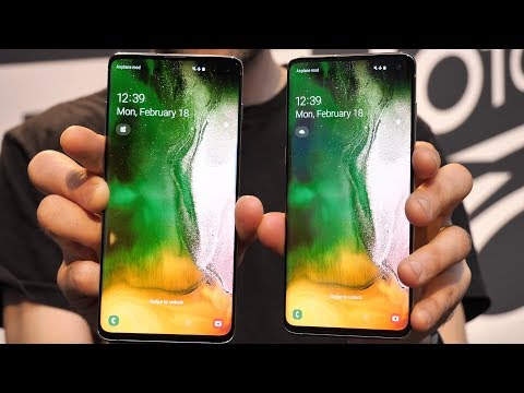 Samsung Galaxy S10 vs S10 Plus | Side-by-side comparison