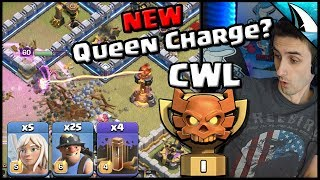 *NEW Queen Charge?* Enemy Using 4x Earthquakes in CWL | Clash of Clans