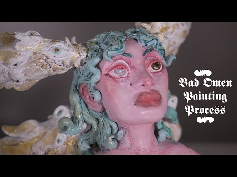 Bad Omen: Polymer Clay Sculpture Painting