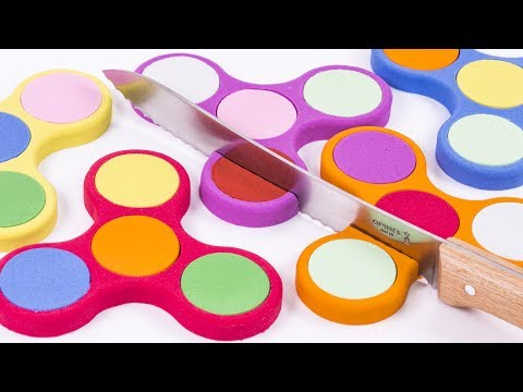 Thumbnail: DIY How to Make Kinetic Sand Rainbow Fidget Spinner Cutting Skwooshi Mad Mattr Learn Colors for Kids