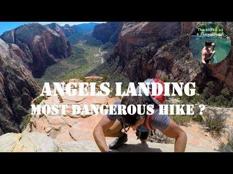 Let's trek Angels Landing 4K - Most dangerous hike ? - tips - Zion National Park