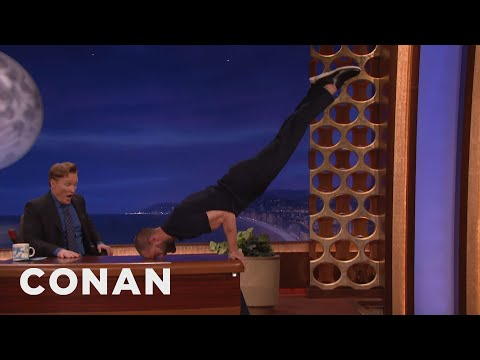 Jamie Dornan Turns Conan's Desk Into A Pommel Horse   CONAN on TBS