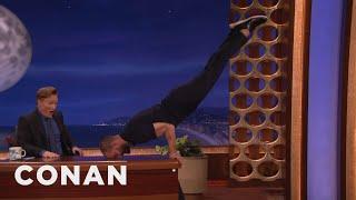 Jamie Dornan Turns Conan S Desk Into A Pommel Horse Conan On Tbs