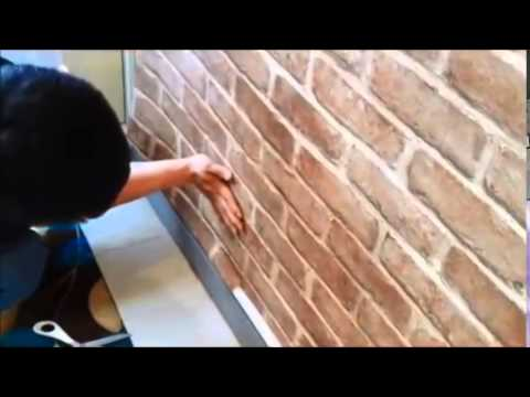How To install Self-Adhesive PVC Wallpaper Sticker Brick Design