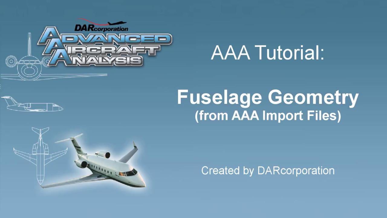 Advanced Aircraft Analysis   DARcorporation   Aeronautical