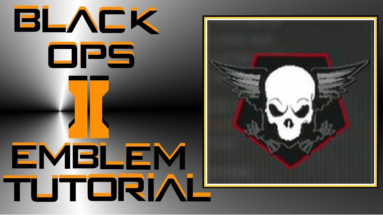 Call Of Duty Black Ops 2 Skull With Wings Emblem Tutorial