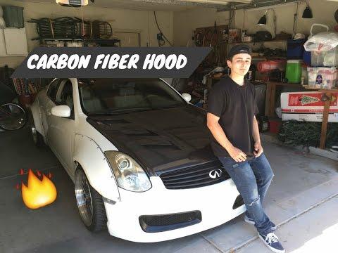 NEW HOOD WHATS GOOD!! // CARBON FIBER HOOD INSTALL