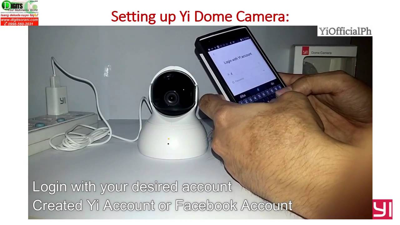 how to Installation Set up of Yi Dome 360° Camera