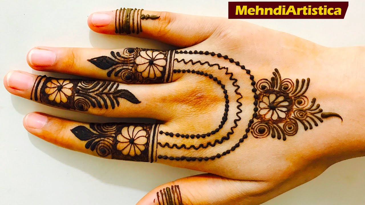 Mehndi design 2017 ki - Super Sweet Easy Simple Girlish Mehndi Designs For Hand Stylish Floral Fingers Henna Pattern 2017