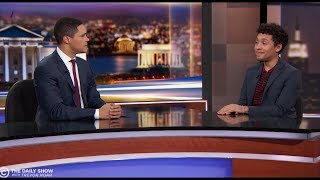 JABOUKIE YOUNG-WHITE MAKES DAILY SHOW DEBUT, SCHOOLS OLD TREVOR NOAH ON VOTING