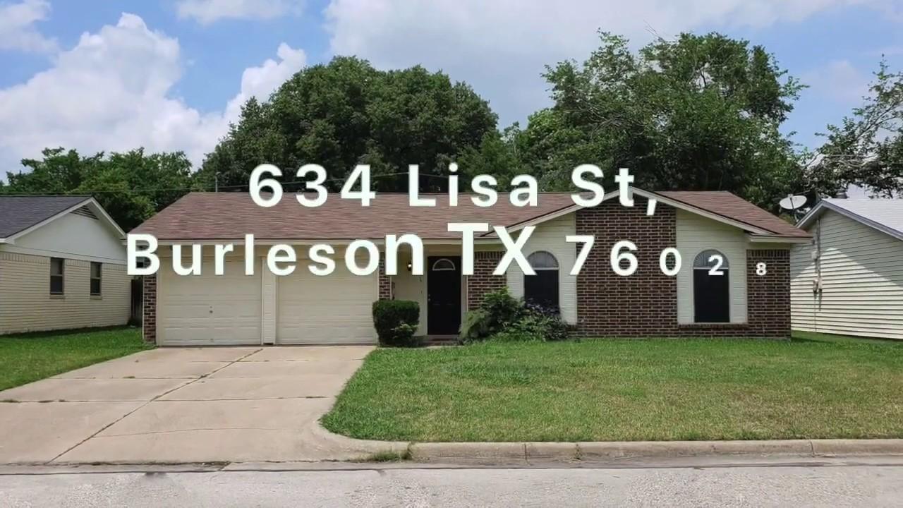 SOLD: 634 Lisa St, Burleson TX 76028