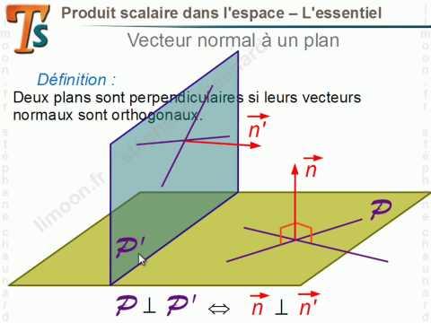 Maths TS - Produit scalaire dans l'espace - Mathématiques Terminale BAC S 2018