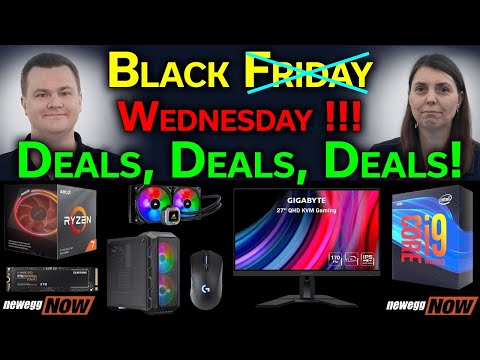 Black Wednesday Tech Deals — CPUs, SSDs, Monitors, RAM, Cases, & More! — Newegg Now