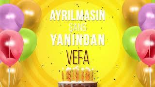 İyi ki doğdun VEFA- İsme Özel Doğum Günü Şarkısı (FULL VERSİYON)