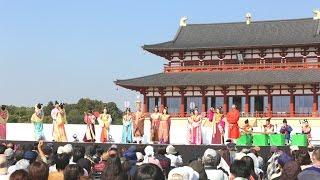 続日本紀の『天平十五年 聖武天皇が群臣を内裏にお招きになり宴を設けら...