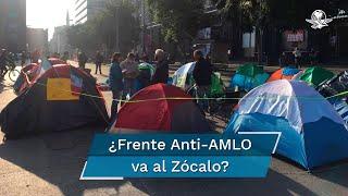 Elementos policiacos que resguardaban el plantón del FRENAAA en avenida Juárez se retiraron del lugar ante los señalamientos de los inconformes respecto a que jueces les concedieron amparos para seguir su camino al Zócalo