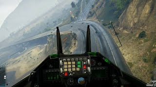 Next Gen GTA Online - Flying Jets in First Person! (Grand Theft Auto PS4 Gameplay)