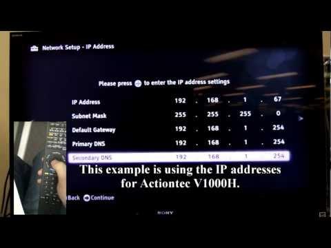 Sony Bravia 2011 model and Telus internet connectivity problems fix.