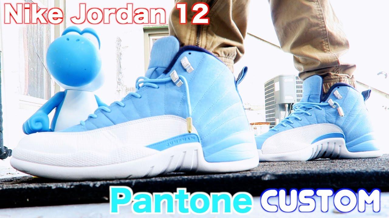 super popular 03f0a dc763 How To: Custom Retro Jordan 12 Pantone w/ On Feet Review & TimeLapse