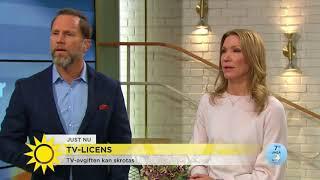 Nyhetsmorgon i TV4 från 2017-09-20: Radio- och tv-avgiften kan komm...