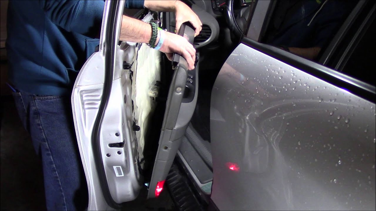 hight resolution of hyundai 2003 santa fe door panel removal reassembly inside door handle replacement