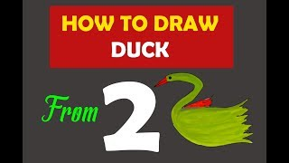 How to draw Duck from Number 2 l Fun Learning