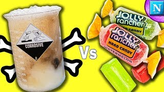 Jolly Ranchers Vs. Piranha Solution !! (It's a violent reaction)