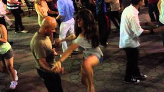 Sizzling Salsa Dancing on 3rd Street Promenade with Kayla & Diganta