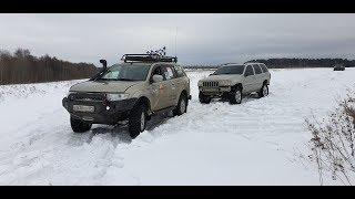 Mitsubishi pajero sport vs Jeep grand Cherokee. Уаз патриот, буханка, шнива offroad