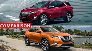 2017 Nissan Rogue vs 2018 Chevrolet Equinox SUV Comparison - Interior, Exterior, TEST...