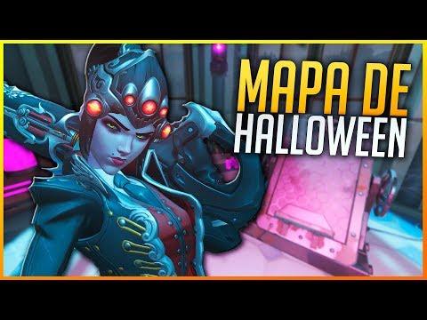 OVERWATCH: MATANDO A TODOS EN PALACIO DE GUILLARD HALLOWEEN!!  | Makina