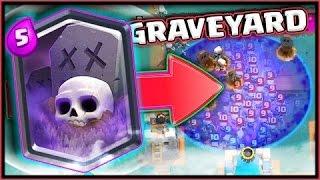 קלאש רויאל - גרייביארד | Graveyard | ?? משחקים עם קלף הלגנדרי החדש/New Legendary  !!
