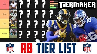 NFL Running Back Tier Rankings (NFL RB Tier List) NFL RB Rankings 2019 Video
