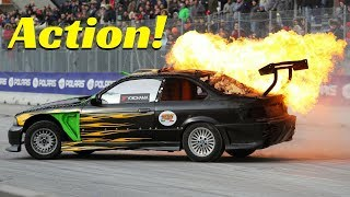 The Car is on Fire! - Extreme + Dangerous Stunt Show and something goes wrong...