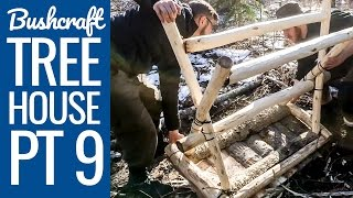 Bushcraft Tree House 9 - An Awesome Bushcraft Table / Countertop / Bar