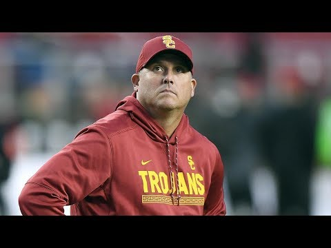 fire-clay-helton-/-usc-trojans---ucla-bruins-preview