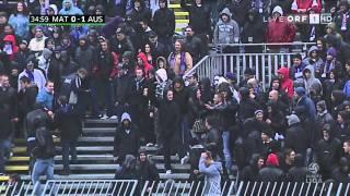 Schwere Ausschreitungen bei Mattersburg vs. Austria - oder doch nicht (Pogo Hooligans)